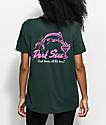Dark Seas Dinos Dive Forest Green T-Shirt