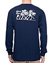 Dark Seas Flurry II Navy Long Sleeve T-Shirt