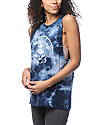 Dark Seas Shell Shock Navy Tie Dye Tank Top