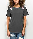 Desert Dreamer Rose Colored Black T-Shirt