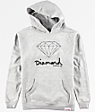 Diamond Boys OG Sign Grey Hoodie