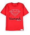 Diamond Supply Co Boys OG Sign Red T-Shirt