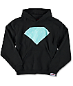 Diamond Supply Co Brilliant Logo Boys Black Hoodie