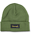 Diamond Supply Co Gold Foil Olive Foldover Beanie