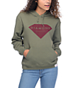 Diamond Supply Co Solid Stone Olive Hoodie