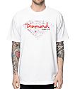 Diamond Supply Co Splatter White & Red T-Shirt