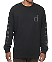 Diamond Supply Co Tonal Un-Polo Black Long Sleeve T-Shirt