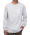 Diamond Supply Co Tonal Un-Polo Grey Long Sleeve T-Shirt