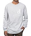 Diamond Supply Co Tonal Un-Polo Grey Long Sleeve T-Shirt