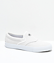 Diamond Supply Co. Boo-J White Suede Slip-On Skate Shoes
