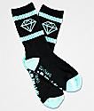 Diamond Supply Co. Boys Rock Sport Black & Blue Crew Socks