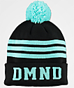 Diamond Supply Co. DMND Black & Blue Striped Pom Beanie