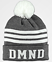 Diamond Supply Co. DMND Grey & White Striped Pom Beanie
