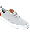 Diamond Supply Co. Lafayette Grey, Brown & White Skate Shoes