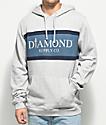 Diamond Supply Co. Mayfair Grey & Blue Hoodie