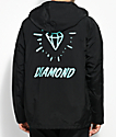 Diamond Supply Co. Outshine Black & Teal Coaches Jacket