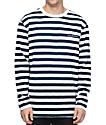 Diamond Supply Co. Pablo Striped Navy & White Long Sleeve T-Shirt