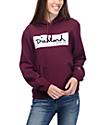 Diamond Supply Co. Radiant Box Logo Burgundy & White Pullover Hoodie
