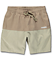 Diamond Supply Co. Speedway Khaki Hybrid Board Shorts