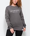 Diamond Supply Co. Stone Cut Grey Long Sleeve T-Shirt