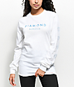 Diamond Supply Co. Stone Cut White Long Sleeve T-Shirt