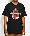 Diamond Supply Co. Tear Drop Black & Red T-Shirt