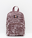 Dickies Purple Crushed Velvet Mini Backpack
