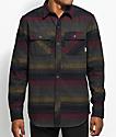 Dravus Kurt Charcoal, Burgundy & Navy Stripe Flannel Shirt