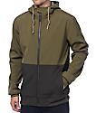 Dravus Trevor Olive & Charcoal Tech Fleece Zip Up Hoodie