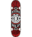 "Element Nyjah Rise Up 7.8"" Red Skateboard Complete"