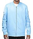 Elwood Sky Blue Nylon Bomber Jacket