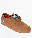 Emerica Figeuroa Brown & Gum Suede Skate Shoes