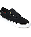Emerica Wino G6 Black & White Suede Skate Shoes