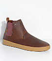 Emerica x Truman Romero Laced Hi Reserved Brown & Gum Leather Skate Shoes