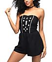 Empyre Arriety Pineapple Black Romper