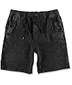Empyre Atticus Black Acid Washed Chino Shorts