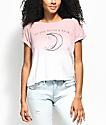 Empyre Benson To The Moon Mauve Dip Dye T-Shirt