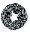 Empyre Black & White Marled Knit Infinity Scarf