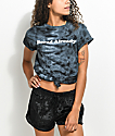 Empyre Bored Black Tie Dye Knot Front T-Shirt
