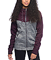 Empyre Bretton Grey & Blackberry Tech Fleece Jacket