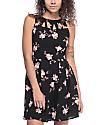 Empyre Caireann Floral Black Cutout Dress