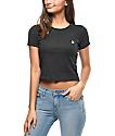 Empyre Cali Yin & Yang Black Crop T-Shirt