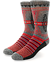 Empyre Chipotle Grey & Red Crew Socks