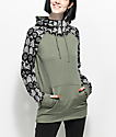 Empyre Crestone Tech Fleece Olive Tribal Hoodie