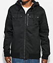 Empyre Derail Black Twill Hooded Jacket
