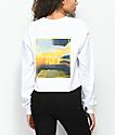 Empyre Fierce Femme White Long Sleeve Crop T-Shirt