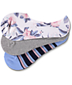 Empyre Floral 3 Pack No Show Socks