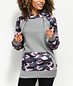 Empyre Frosty Pink Camo Tech Fleece Hoodie