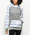 Empyre Frosty Tech Fleece Geo Tri Grey Hoodie