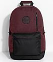 Empyre Gareth Burgundy & Black Backpack